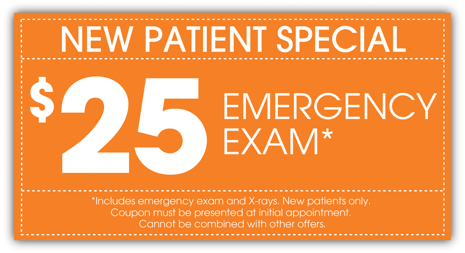 $25 New Patient Emergency Exam Indian Trail NC