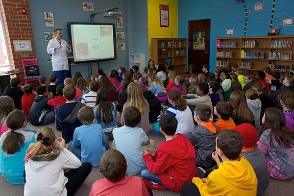 Dr. Ernst speaks at Indian Trail Elementary School
